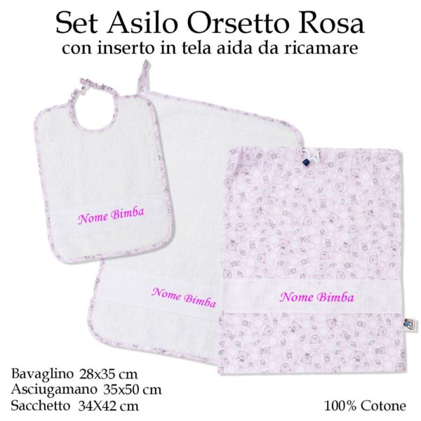 Set-asilo-orsetto-rosa-601A