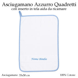 Asciugamano-asilo-nido-Azzurro-quadretti-AS02-09