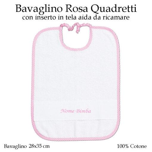 Bavaglino-da-ricamare-asilo-nido-Rosa-quadretti-AS02-08