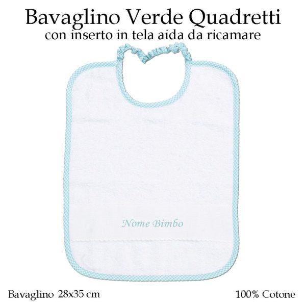 Bavaglino-da-ricamare-asilo-nido-verde-quadretti-AS02-03