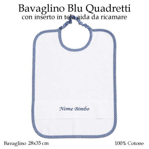 Bavaglino-personalizzato-asilo-nido-blu-quadretti-AS02-07