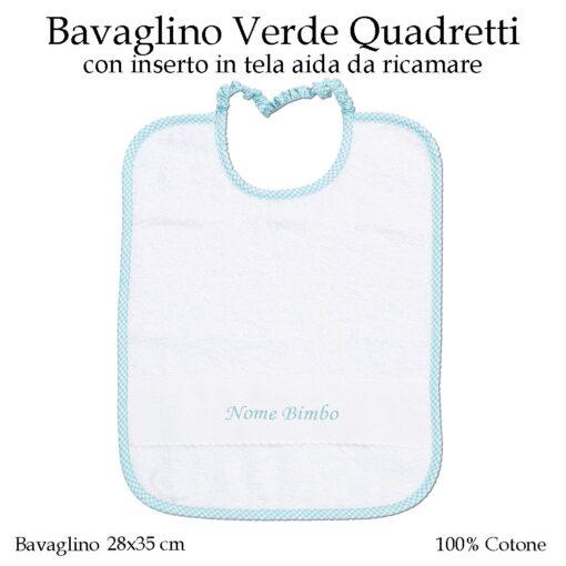 Bavaglino-personalizzato-asilo-nido-verde-quadretti-AS02-03