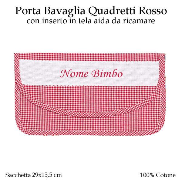 Porta-bavaglia-asilo-nido-rosso-quadretti-AS014-01