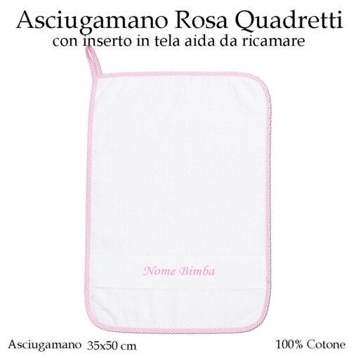 Set-asilo-Rosa-Quadretti-AS02-08-componente-asciugamano