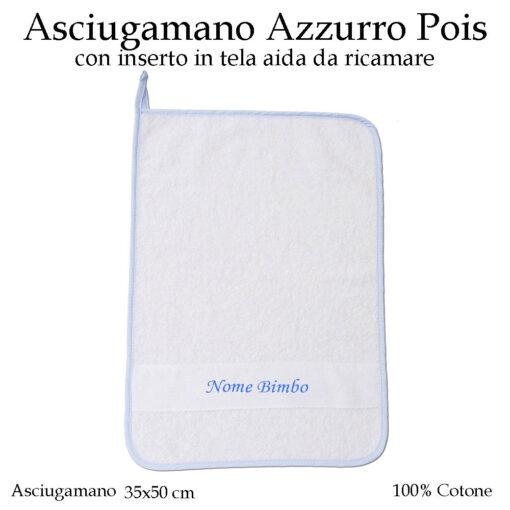 Set-asilo-azzurro-pois-605-componente-asciugamano