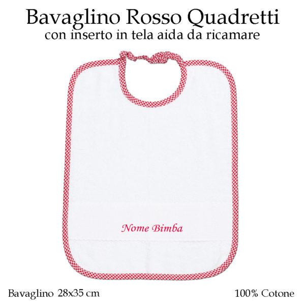 Set-asilo-rosso-quadretti-AS02-01-componente-bavaglino