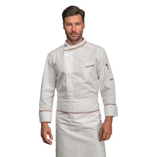 Giacca-cuoco-bilbao-bianca-tricolore-ISACCO-059310