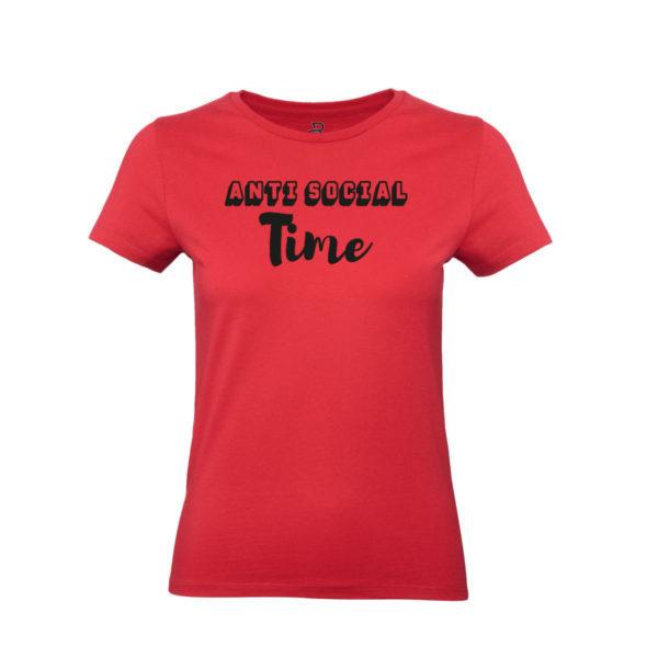 anti-social-t-shirt-time-maglietta-rossa