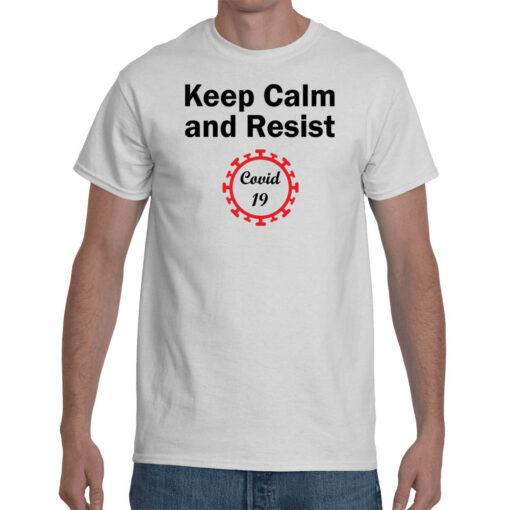 T-shirt-maglietta-coronavirus-keep calm and resist covid 19