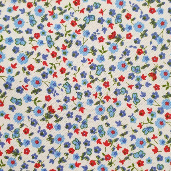 mascherina-bambino-fiori-blu-tessuto