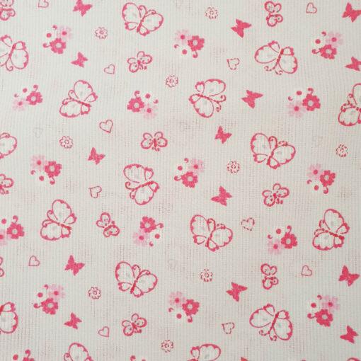 mascherina-scuola-bambini-farfalline-rosa