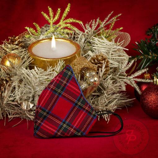 Mascherina-natale-tartan-natalizia