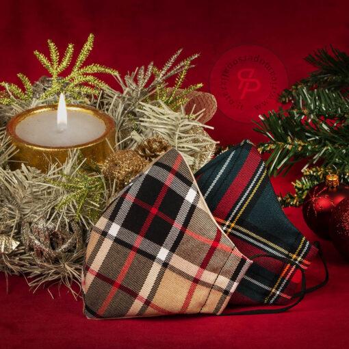 Mascherina-natale-tartan-natalizia-coppia