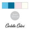 tabella colori per accappatoio bambino personalizzato con nome rosa bianco ottanio turchese