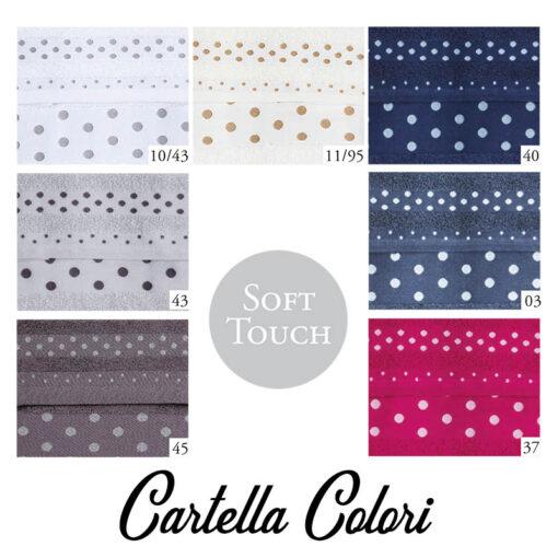 asciugamani con iniziali ricamate cartella colori pois