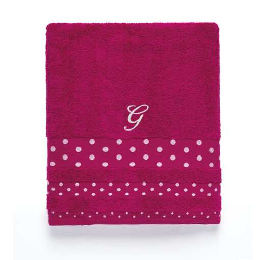 asciugamano con monogramma