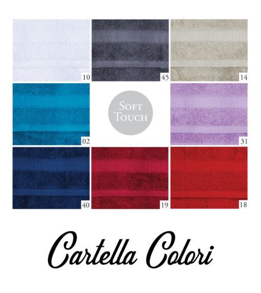 Cartella colori asciugamano con monogramma modello neutro