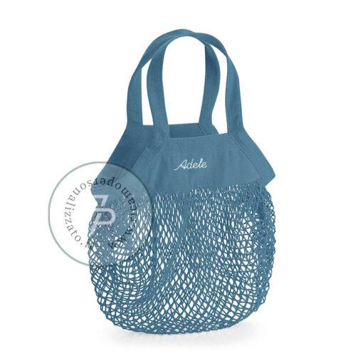 grocery bag con nome borsa a rete personalizzata
